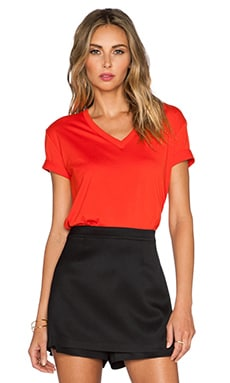 T by Alexander Wang V Neck Tee in Pop