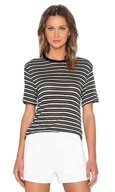 T by Alexander Wang Stripe Tee in Black Multi