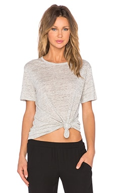 T by Alexander Wang Heather Tee in Light Heather Grey