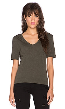 T by Alexander Wang Classic Tee with Pocket in Lichen