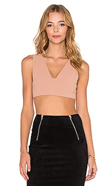 T by Alexander Wang Plunge Bralette in Mannequin