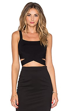 T by Alexander Wang Criss Cross Tank in Black