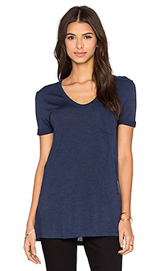 T by Alexander Wang Classic Tee With Pocket in Marine
