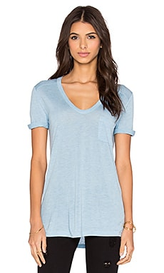 T by Alexander Wang Classic Tee With Pocket in Sky