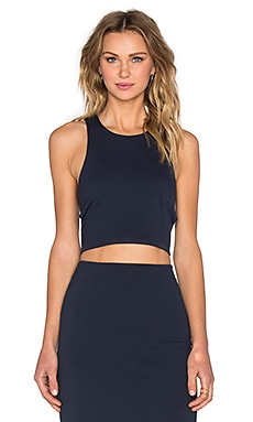 Ponte Crop Top in Marine