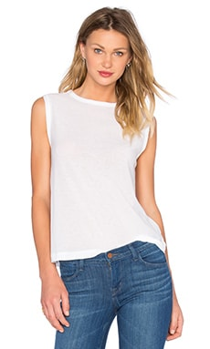 Tissue Jersey Muscle Tee in White