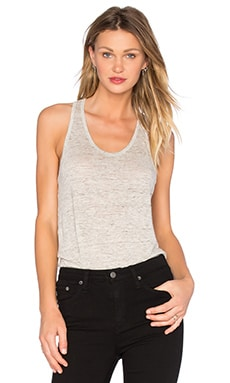 Linen Jersey Tank in Light Heather Grey