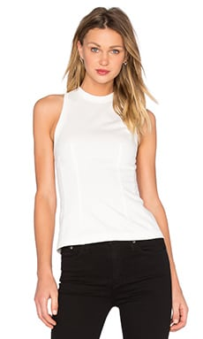 T by Alexander Wang Cotton Jersey Tank in White