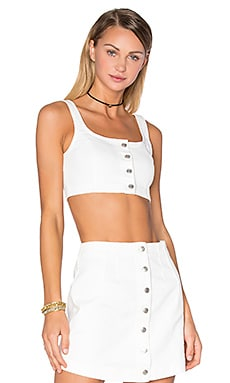 T by Alexander Wang Bustier Crop Top in Ivory