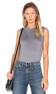 High Neck Flared Tank in Stahl