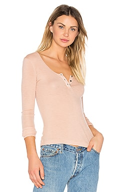 Sheer Wooly Henley in Blush