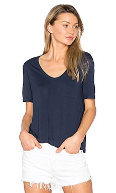 Crop Tee in Indigo