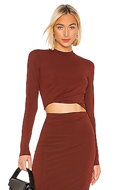 Crepe Jersey Twisted Long Sleeve Top T by Alexander Wang $193