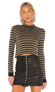 New Striped Slub Crop Top T by Alexander Wang $155