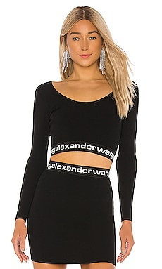 TOP CORTO BODYCON T by Alexander Wang $325