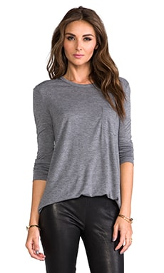 Classic Long Sleeve Pocket en Gris Brezo
