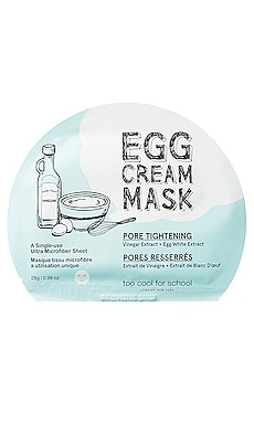 EGG CREAM MASK (PORE TIGHTENING) 시트 마스크 Too Cool For School $6