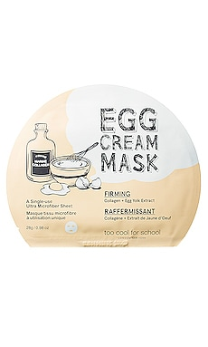 Egg Cream Mask (Firming) Too Cool For School $6