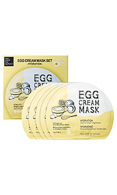 EGG CREAM MASK HYDRATION SET 시트 마스크 세트 Too Cool For School $24