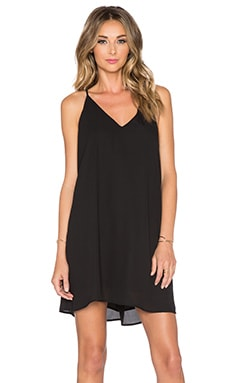 Three Eighty Two Tanner Slip Mini Dress in Black