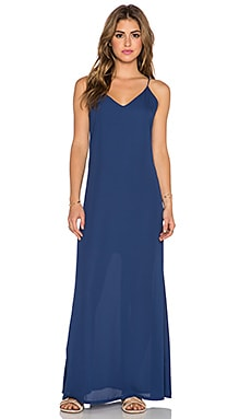 Three Eighty Two Lachlan Slip Maxi Dress in Navy