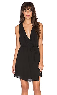 Three Eighty Two Hunter Fold Over Dress in Black