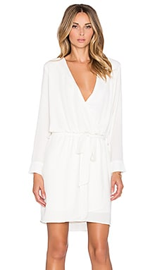 Three Eighty Two Lana Surplice Dress in Ivory