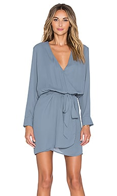 Three Eighty Two Lana Surplice Dress in Slate
