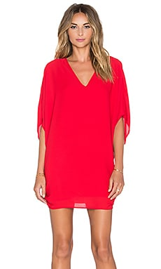Three Eighty Two Daphne Caftan in Scarlet