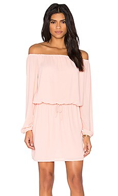 Three Eighty Two Willow Off Shoulder Dress in Quartz
