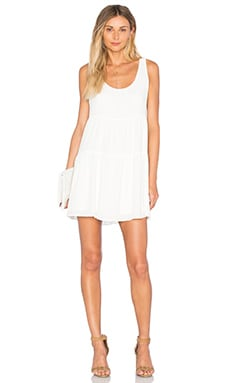Three Eighty Two Layla Gathered Dress in Ivory