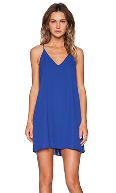 Three Eighty Two Tanner Slip Mini Dress in Cobalt