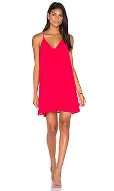 Three Eighty Two Tanner Slip Mini Dress in Cherry