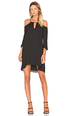 Three Eighty Two Lilah Cutout Mini Dress in Black