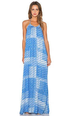 Three Eighty Two Kallie Halter Maxi Dress in Surf