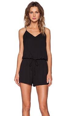 Three Eighty Two Reed Romper in Black