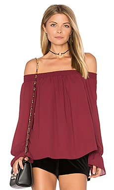 Evangeline Off Shoulder Top in Garnet