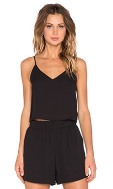 Three Eighty Two Karlie Crop Cami in Black