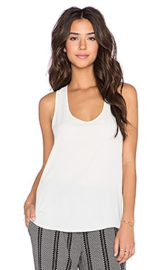 Three Eighty Two Daria Racerback Tank in Ivory
