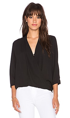 Arizona Surplice Top in Black