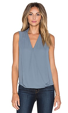Three Eighty Two Monroe Surplice Tank in Slate