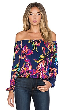 Three Eighty Two Isabella Off Shoulder Top in Iris