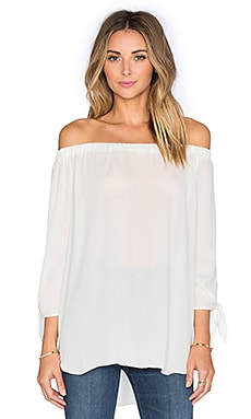 Three Eighty Two Kailey Off Shoulder Top in Ivory