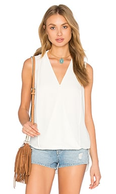 Monroe Surplice Top in Ivory