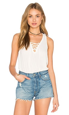Three Eighty Two Remy Lace Front Tank in Ivory