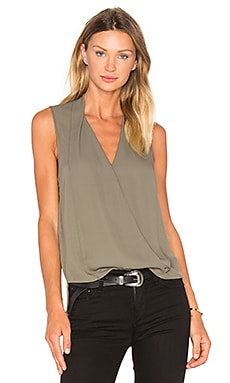 Monroe Surplice Top in Military