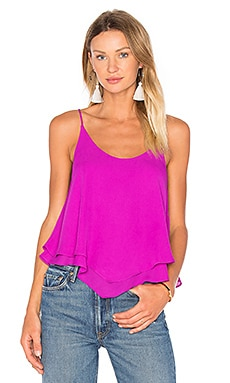 Three Eighty Two Pamela Layered Tank in Violet
