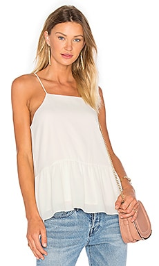 Three Eighty Two Hayden Ruffle Tank in Ivory