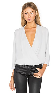 Arizona Surplice Top in Silver