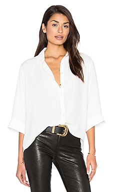 Holden Oversize Button Front Top in Ivory